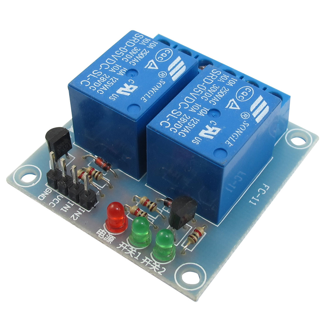 DC 5V 2-Channel High Level Trigger Relay Module for MCU AVR
