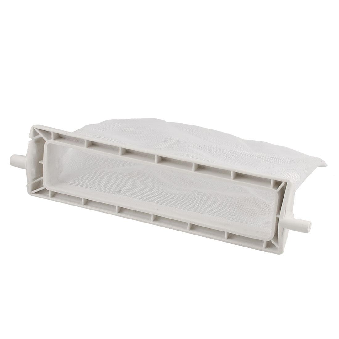 "Washing Machine White Plastic Nylon Filter 5.5"" x 2.8"" Meshy Bag"