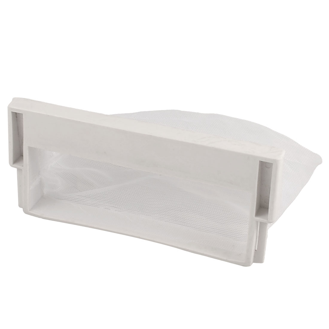 Washing Machine White Plastic Nylon Filter 13cm x 8.5cm Meshy Bag