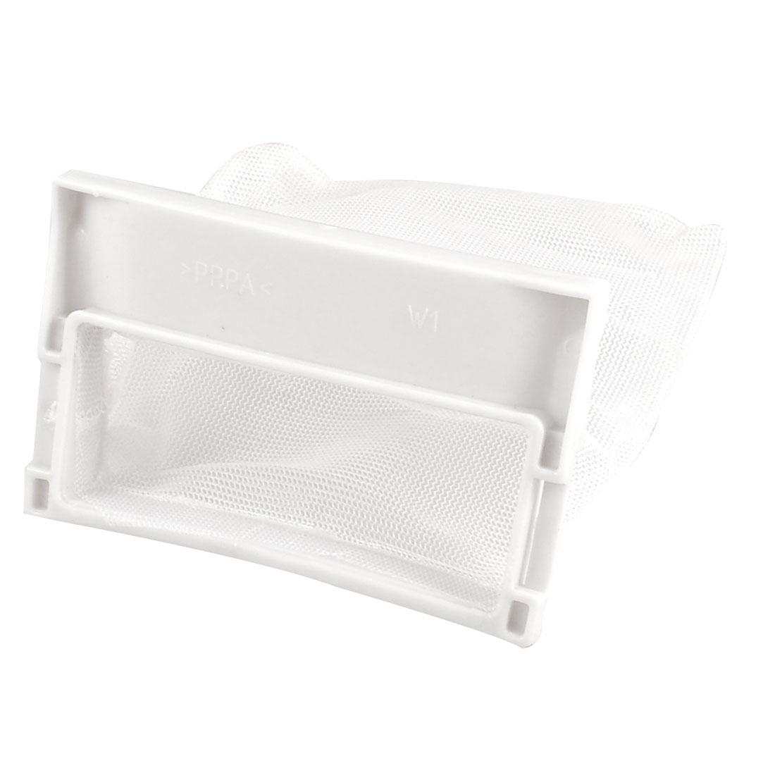 Washing Machine White Plastic Nylon Filter 11cm x 11.5cm Meshy Bag