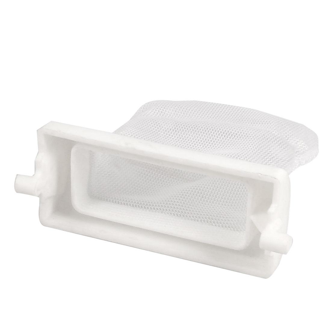 Washing Machine White Plastic Nylon Filter 6.5cm x 6cm Meshy Bag