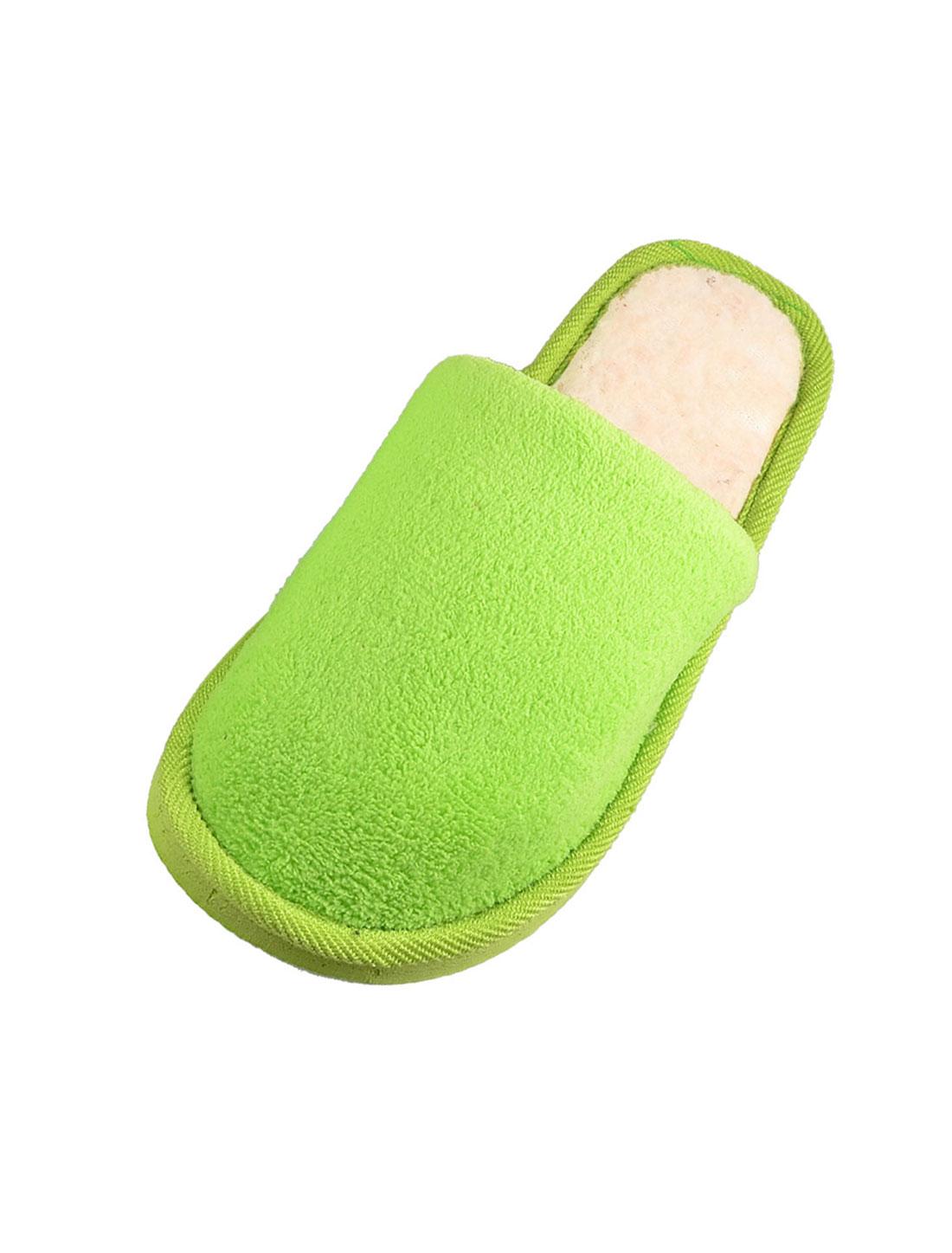 Women Green Fleeces House Soft Winter Warm Slippers EU 41