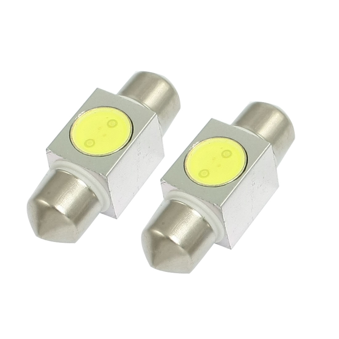2 Pcs White SMD LED 31mm Interior Festoon Dome Door Light Bulb Lamp 1W internal