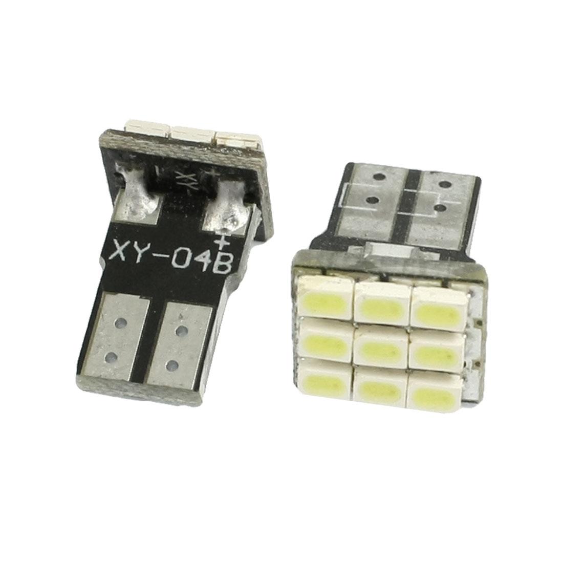 2 Pcs T10 W5W 194 168 Car Auto White 1206 SMD 9 LED Light Bulb Lamp