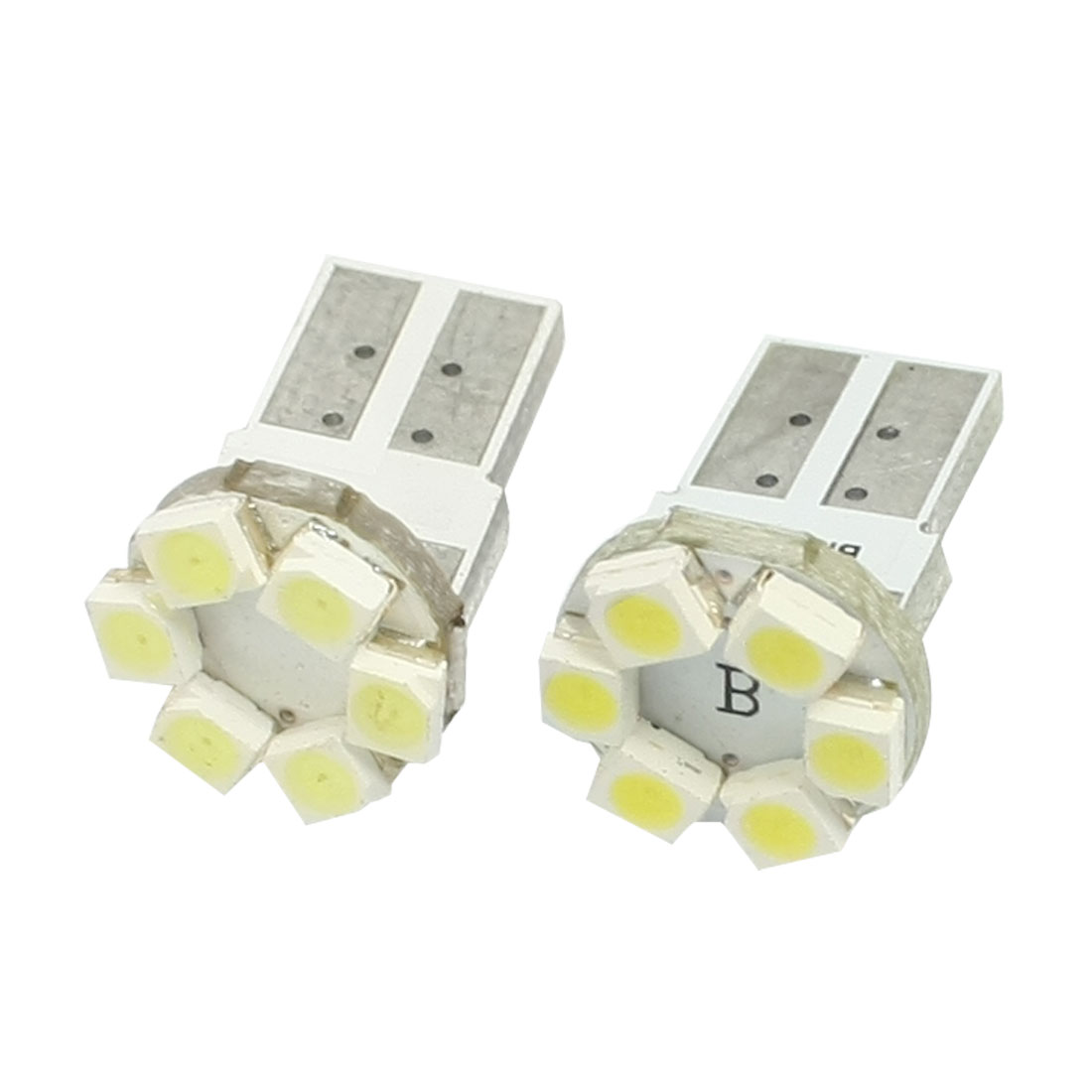 2 Pcs T10 W5W 194 168 Car White Canbus 1210 SMD 6 LED Light Bulb Lamp