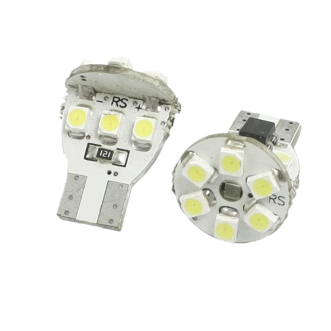 2 Pcs T10 W5W 194 168 Car White Canbus No Error 1210 SMD 12 LED Light Bulb Lamp