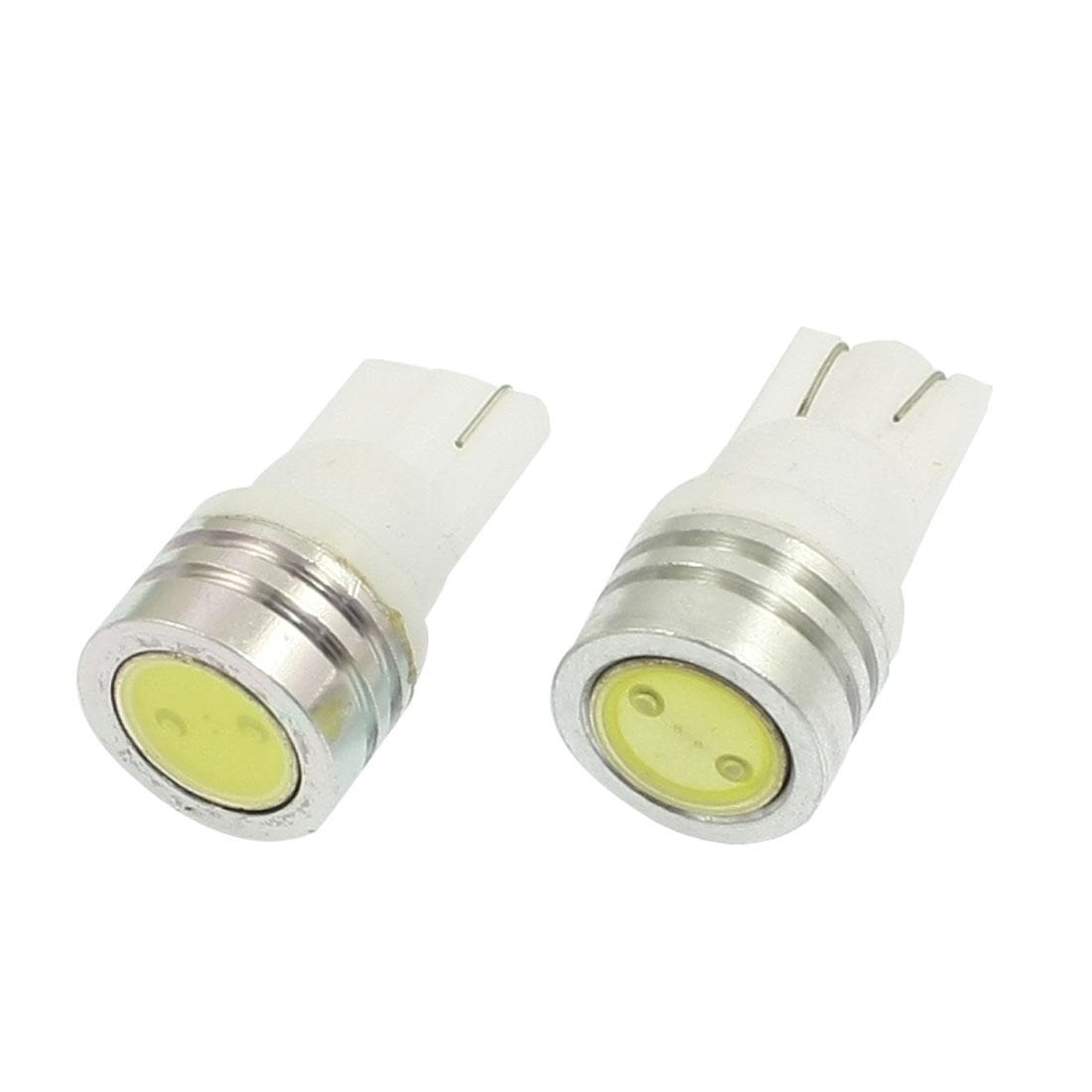 2 Pcs 1W T10 LED Car Auto Interior Dome Wedge Side Light Lamp Bulb White