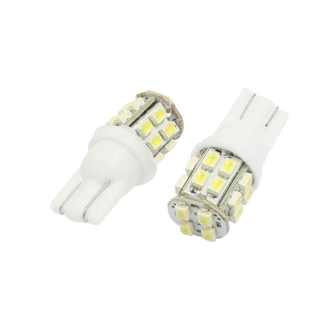 2 Pcs Car Interior White T10 W5W 1206 20 SMD LED Light Bulb Lamp