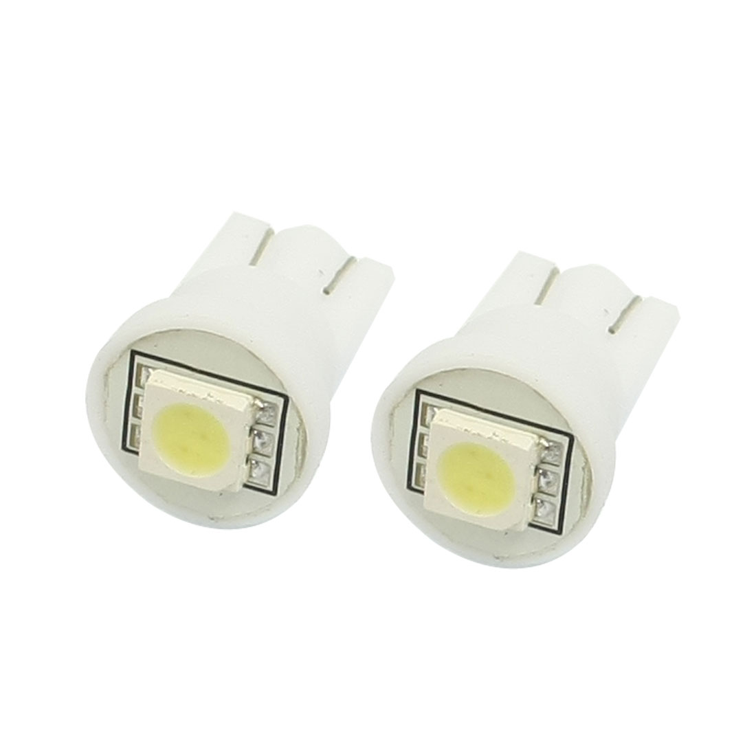 2 Pcs Car Auto Interior White T10 W5W 5050 SMD LED Light Bulb Lamp