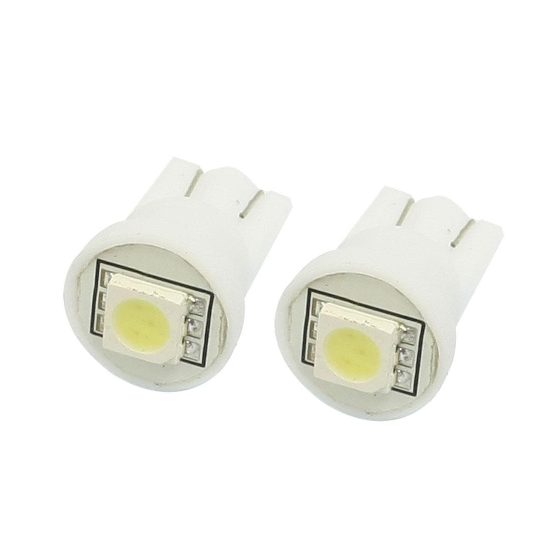 2 Pcs Car Auto Interior White T10 W5W 5050 SMD LED Light Bulb Lamp