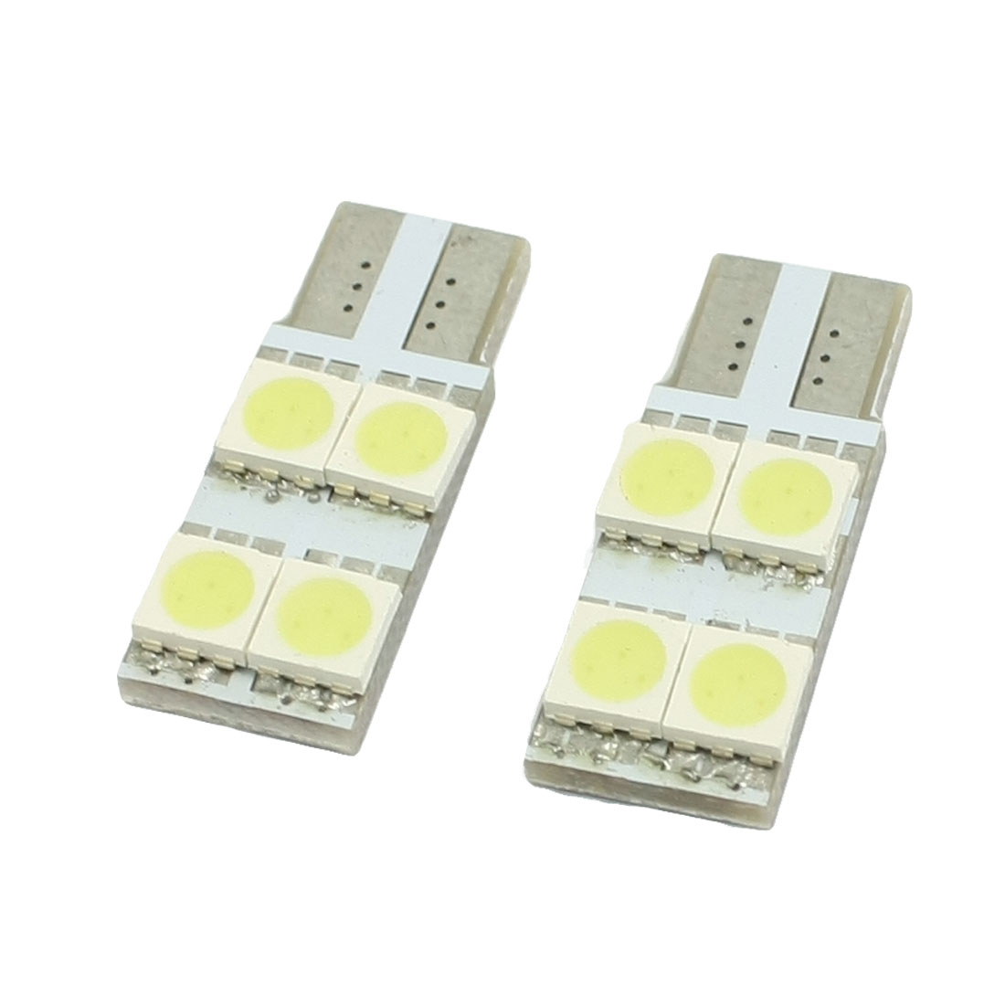 2 Pcs T10 W5W 194 168 Car White Canbus No Error 5050 SMD 4 LED Light Bulb Lamp