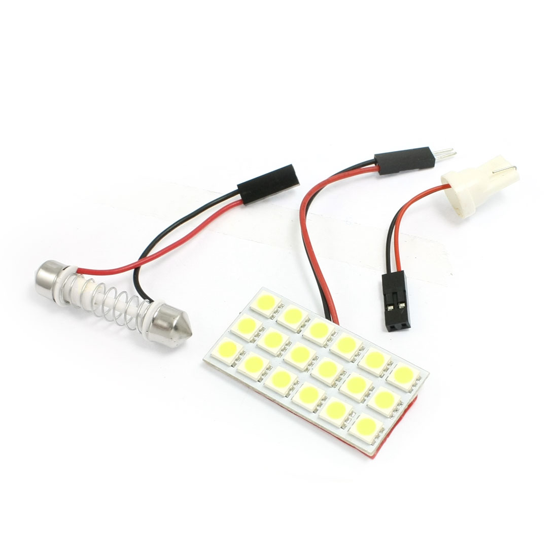 Car Auto White 5050 SMD 18-LED Light Dome Lamp w T10 Festoon Adapter