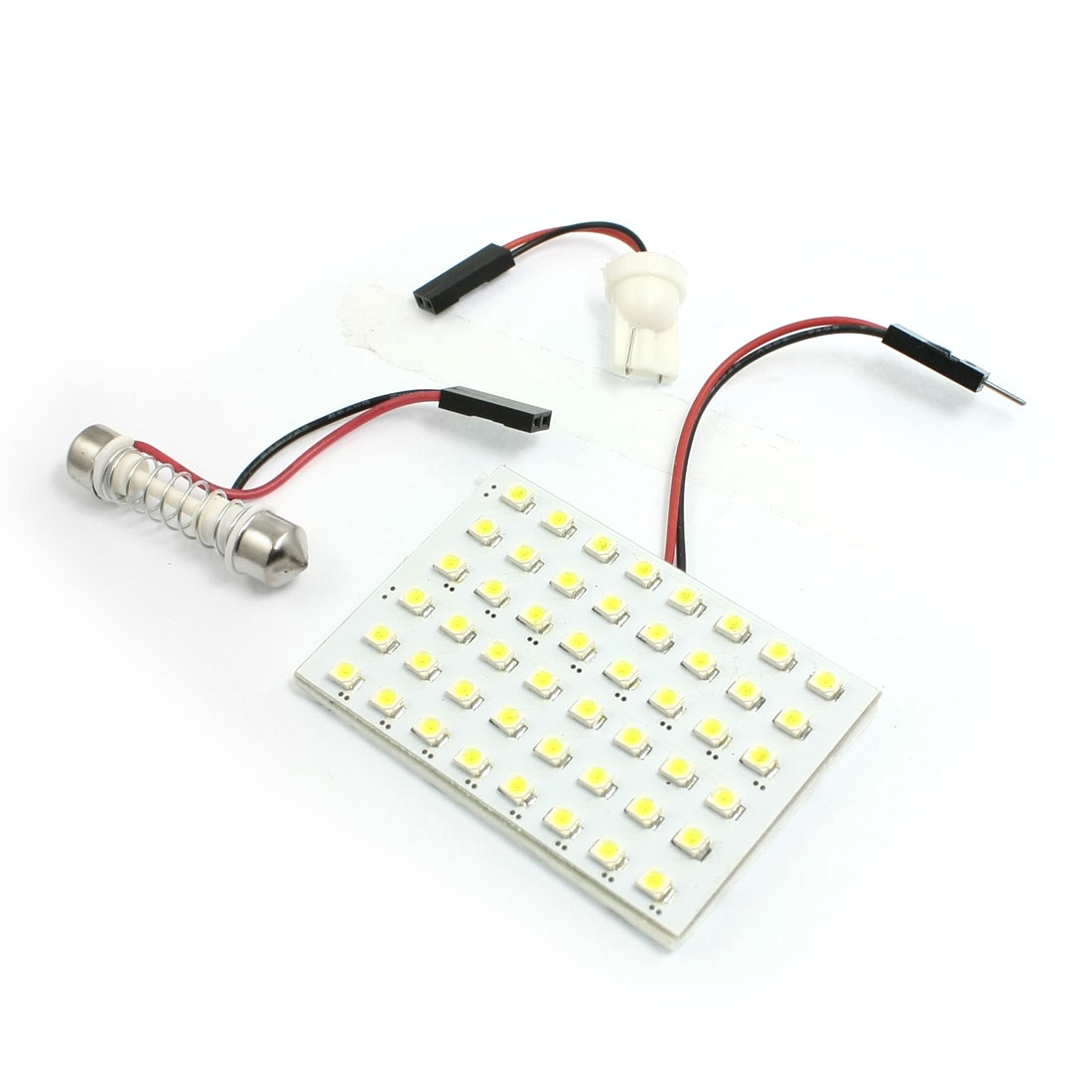 Car Auto White 1210 3528 SMD 48-LED Light Dome Lamp w T10 Festoon Adapter