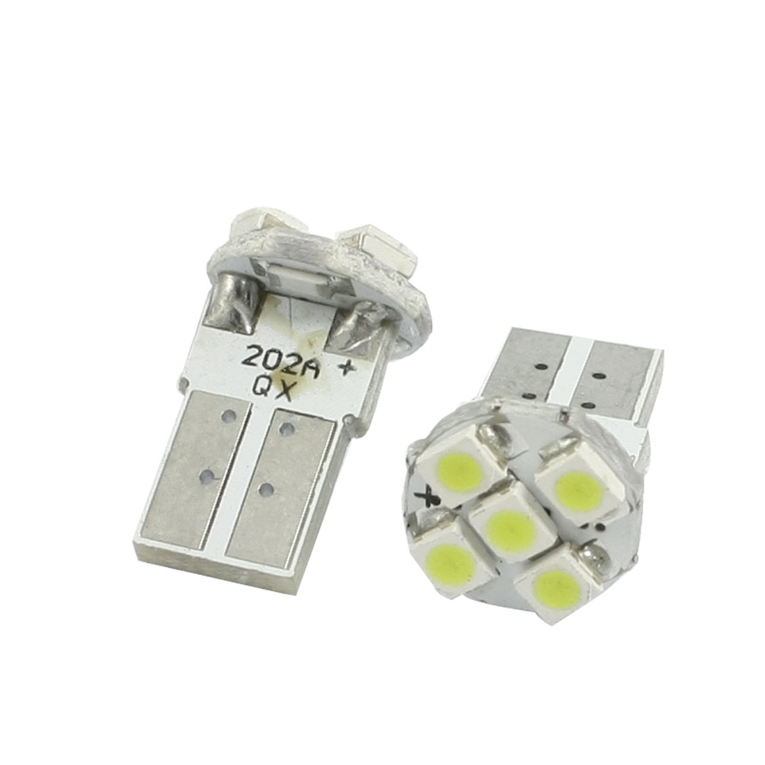 1210 SMD 5 LED T10 194 W5W Map Backup Light Lamp White 2 Pcs