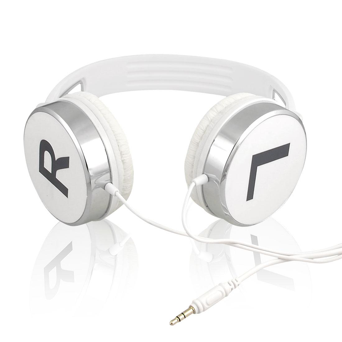 KM870 3.5mm Headset Headphones Earphones w Mic White for MP4 MP5 PC