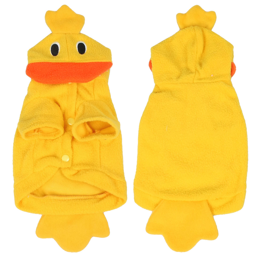 Doggy Dog Halloween Costume Duck Style Fleece Clothes Coat Yellow Size XS