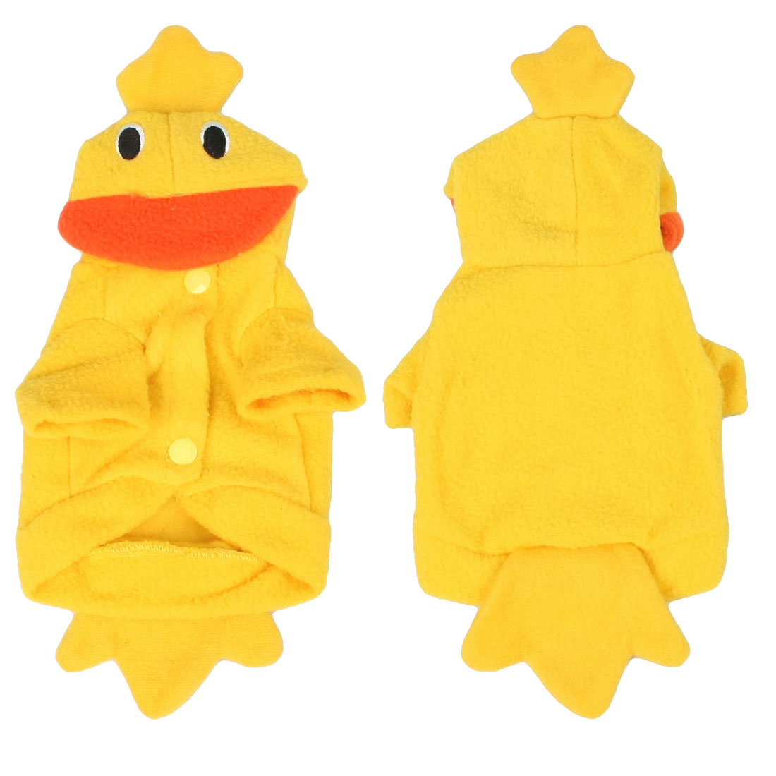 Pet Dog Party Fleece Duck Design Costume Hooded Outer Wear Clothes Apparel 8