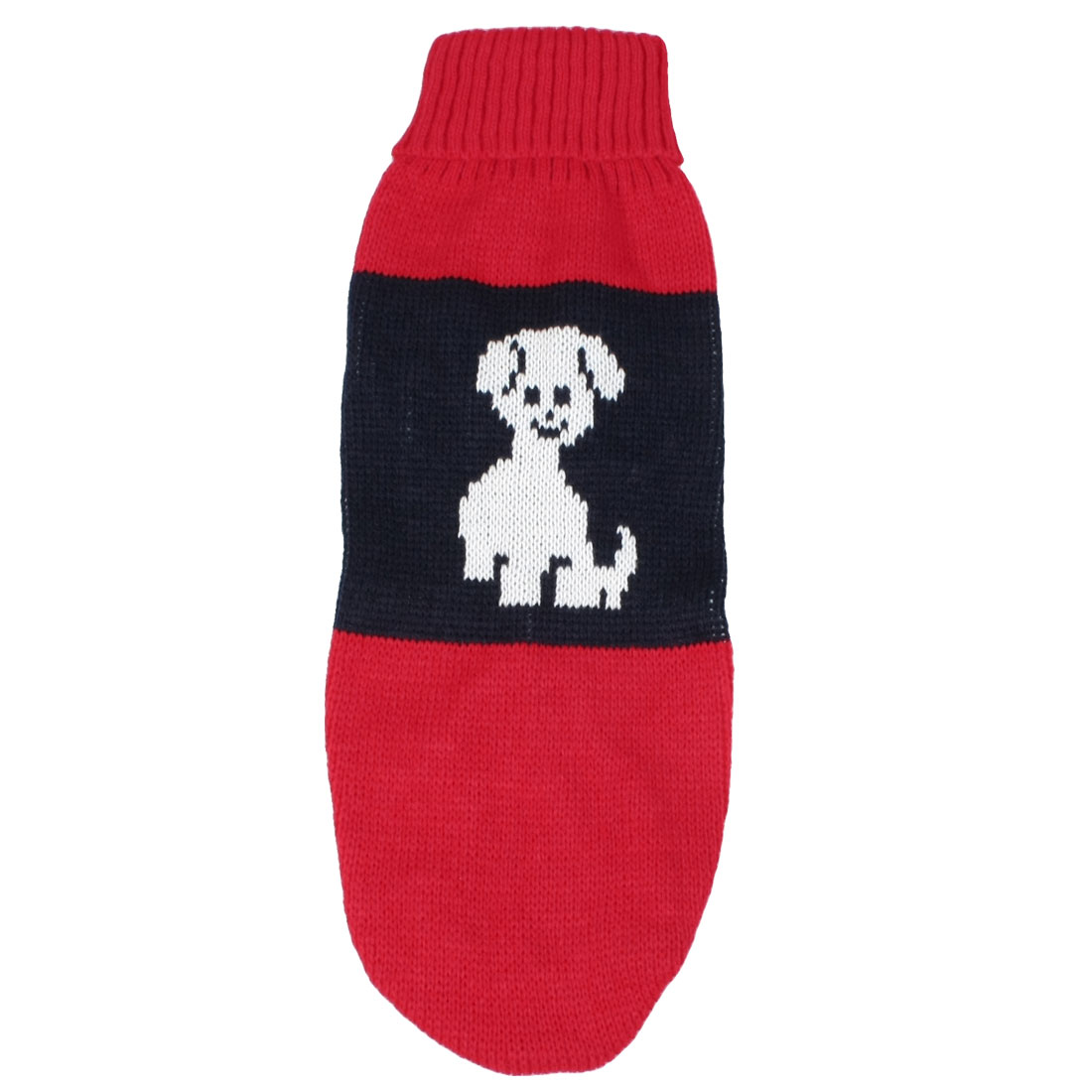 Pet Turtleneck Hand Knit Dog Sweater Clothing Coat Puppy Doggy Apparel Dark Blue