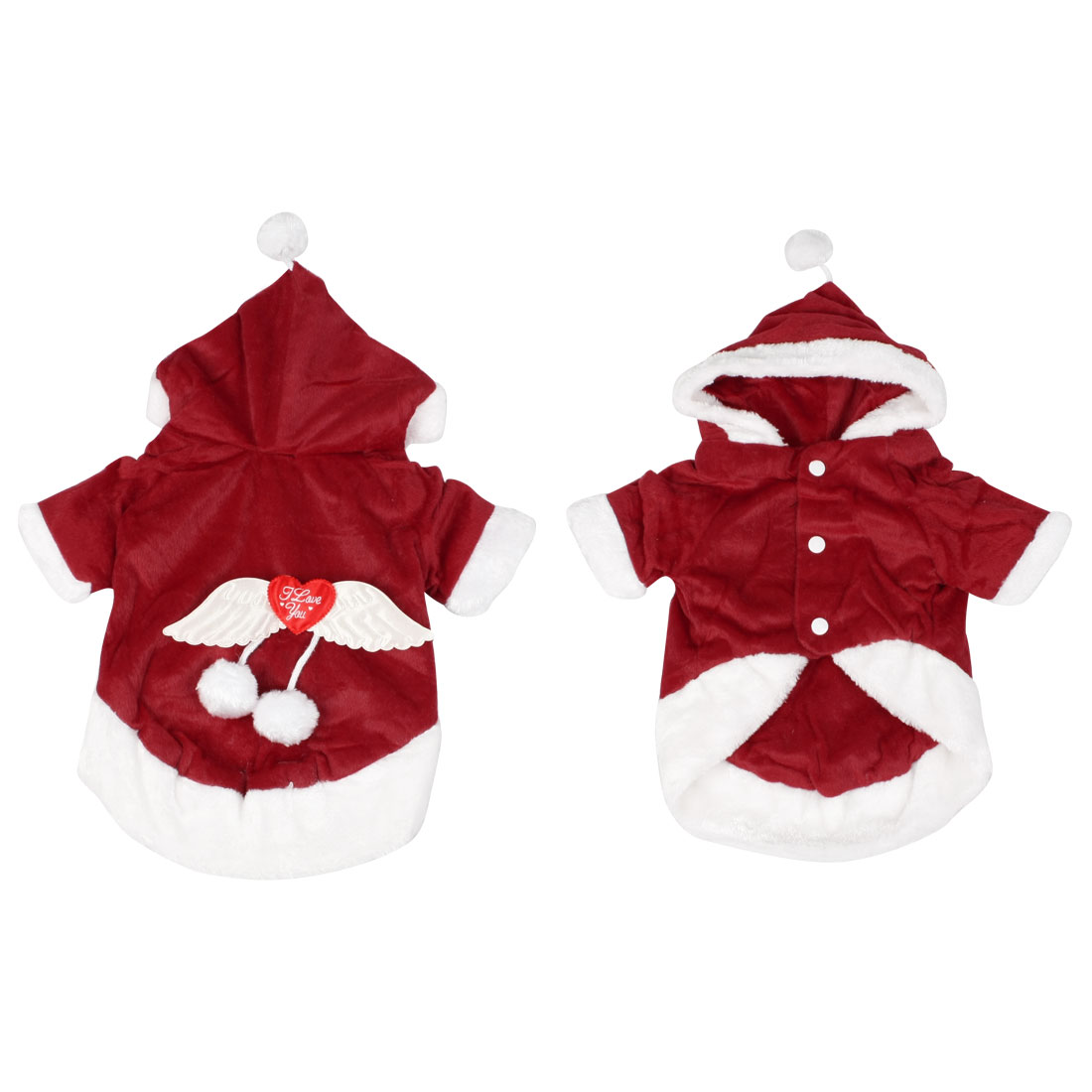 Xmas Costume Party Santa Angel Wing Dog Clothes Puppy Apparel Outerwear L