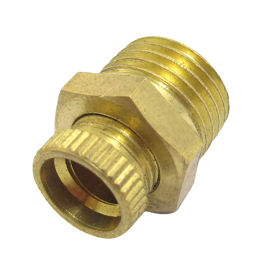 "1/2"" Male Threaded 7/25"" Brass Ferrule Compression Straight Connector"