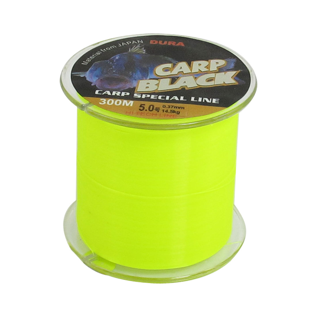 14.5Kg 32lb 0.37mm Dia 300m Yellow Green Nylon Fishing Spool Line String