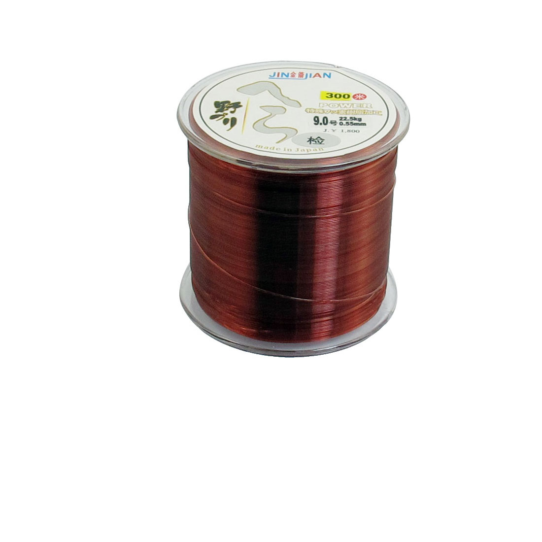 9# 0.55mm Dia 22.5Kg Fishing Line Spool 300M Clear Red String