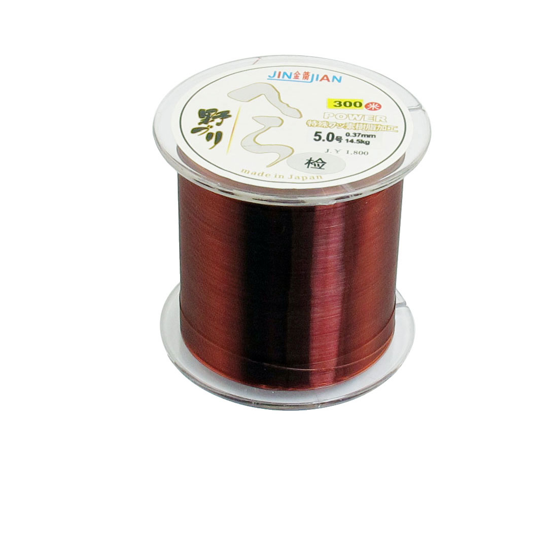 5# 0.37mm Dia 14.5Kg Fishing Line Spool 300M Clear Red String