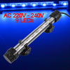 Fish Tank 9 Blue LEDs Bar Electronic Submerged Light Lamp EU Plug AC 220V-240V