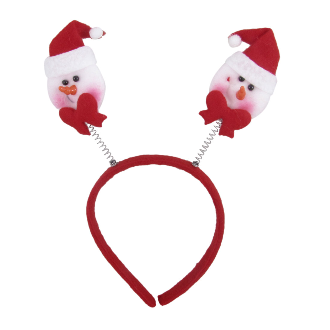 Christmas Xmas Red White Santa Claus Design Flannel Coated Hairband for Children