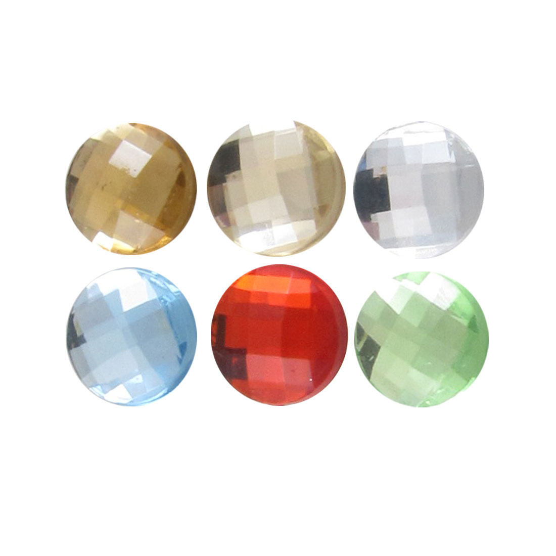 Glitter Round Crystal Home Button Stickers 6 in 1 for Cellphone