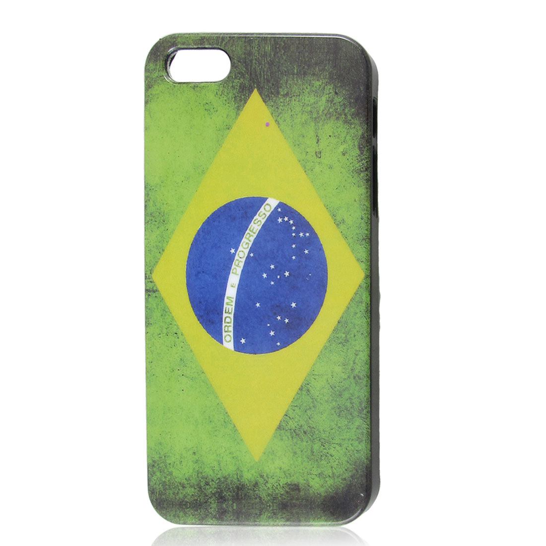 Retro Style Brazil National Flag Hard Back Case Cover for Apple iPhone 5 5G