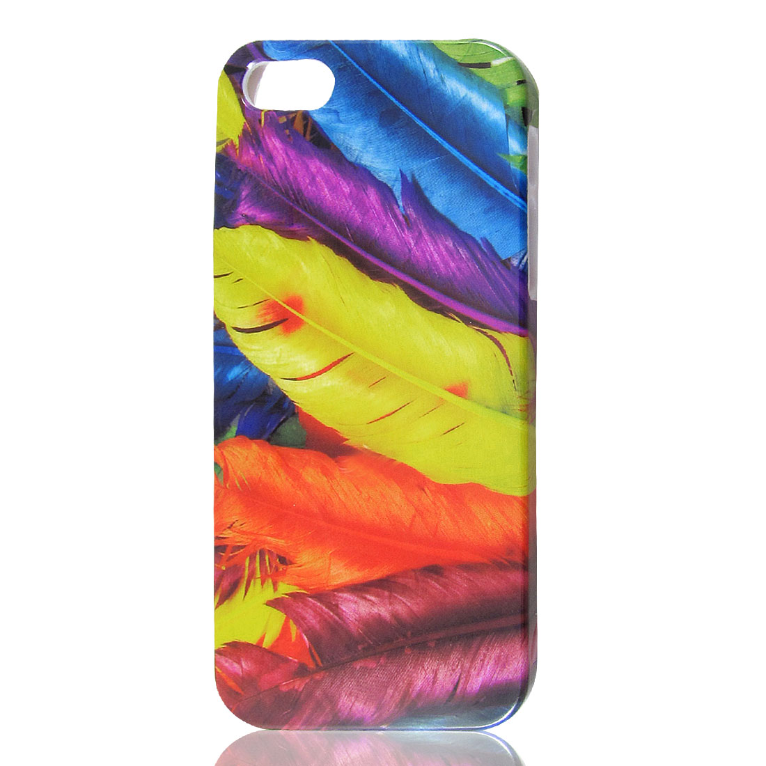 Assorted Color Feather Pattern Hard Back Cover Case for iPhone 5 5G 5th