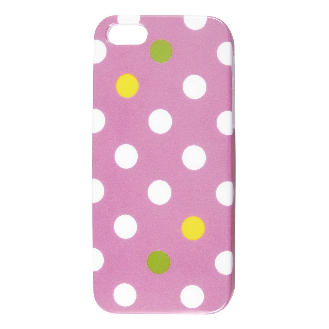 Pink White Polka Dots Hard Back Case Cover for Apple iPhone 5 5G