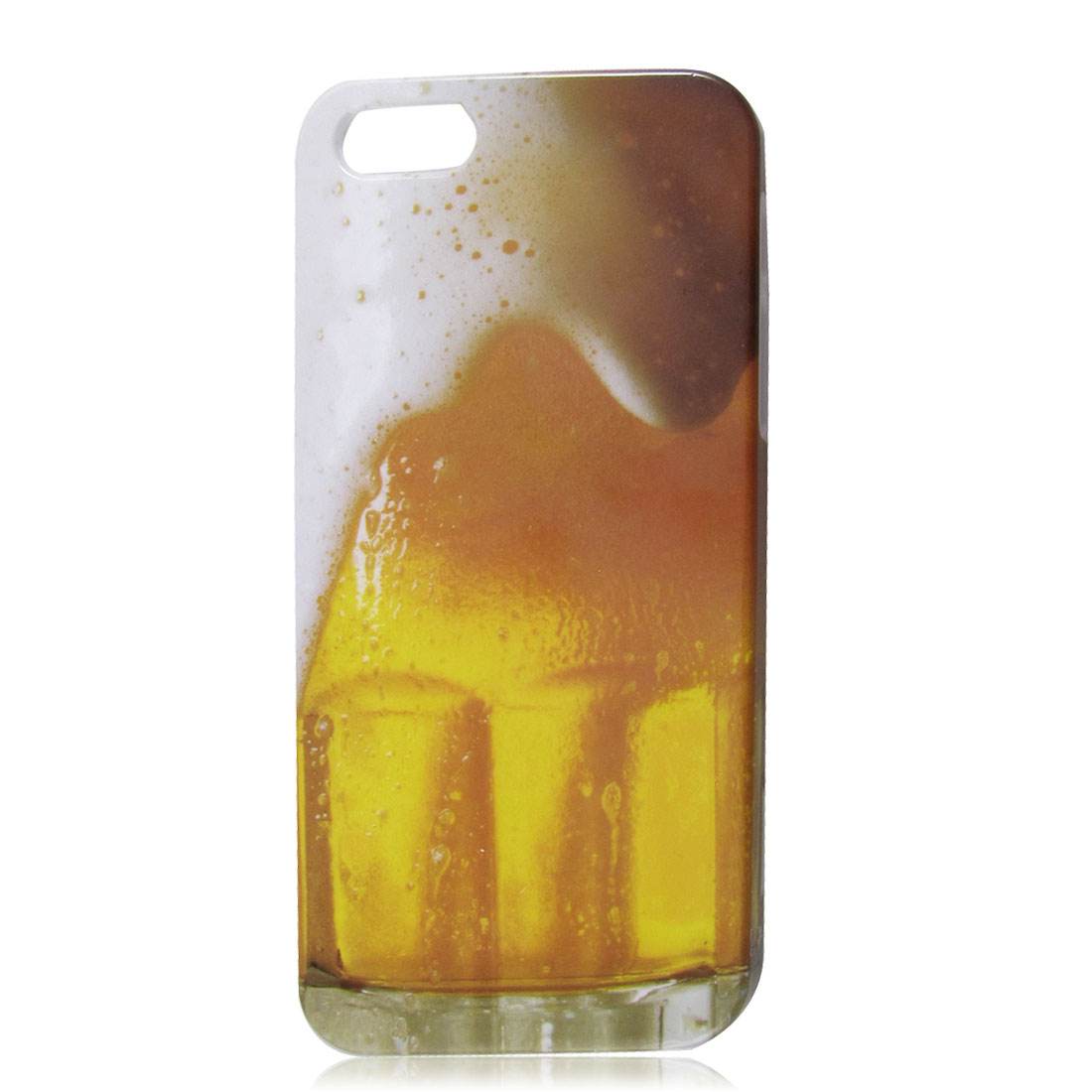 Yellow White Gradient Beer Mug Look Hard Back Case Cover for Apple iPhone 5 5G