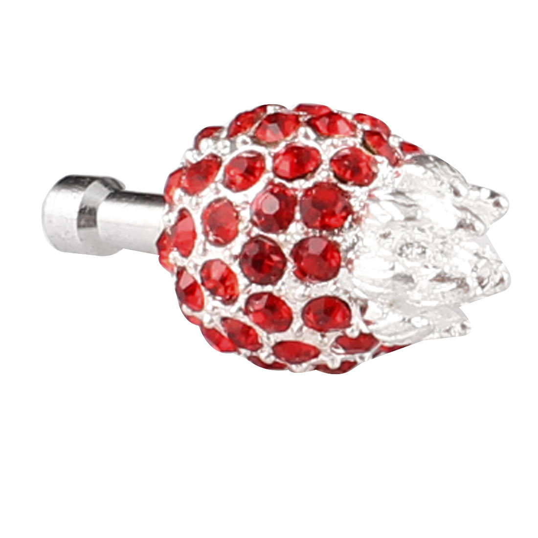 Bling Red Pineapple 3.5mm Earphone Jack Dust Stopper for Cell Phone