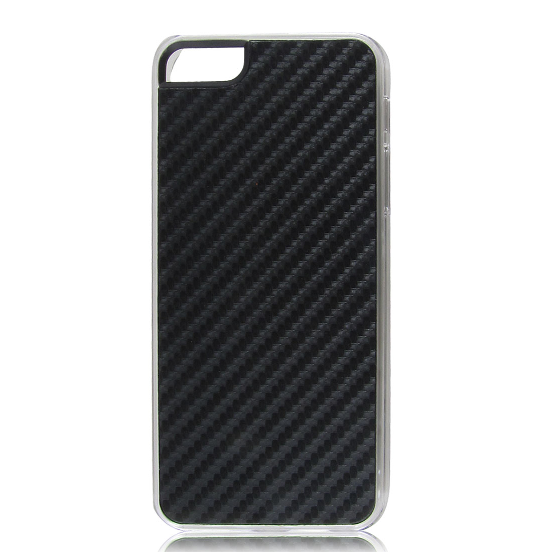 Black Woven Faux Leather Coated Hard Back Case Cover for Apple iPhone 5 5G