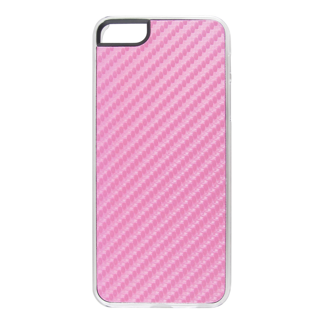 Pink Woven Faux Leather Coated Hard Back Case Cover for Apple iPhone 5 5G