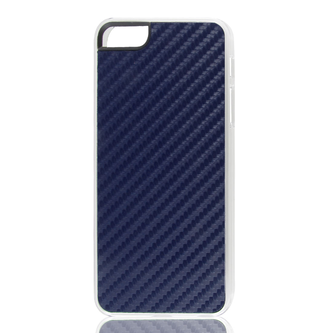 Dark Blue Woven Faux Leather Coated Hard Back Case Cover for Apple iPhone 5 5G