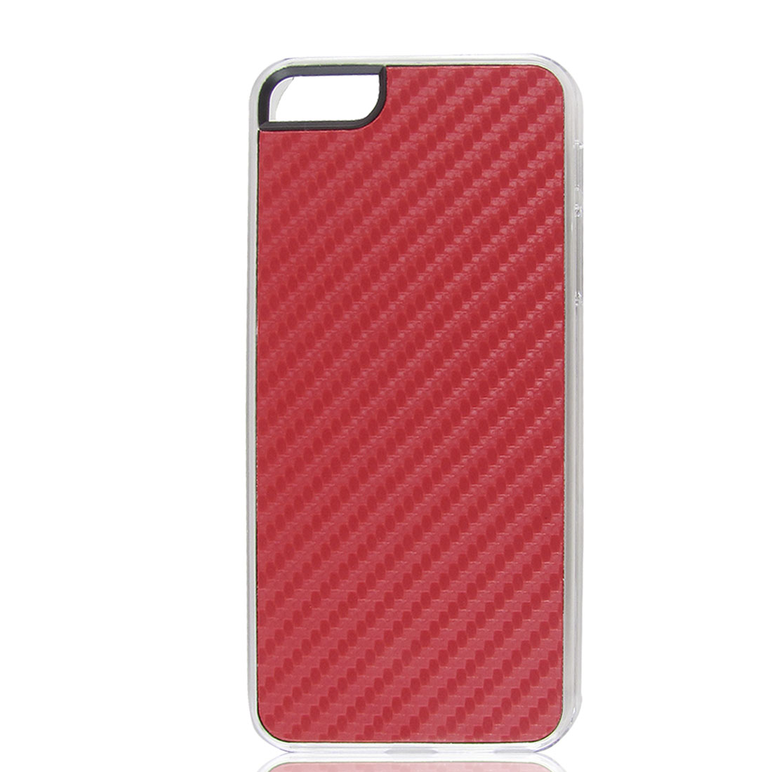 Red Woven Faux Leather Coated Hard Back Case Cover for Apple iPhone 5 5G