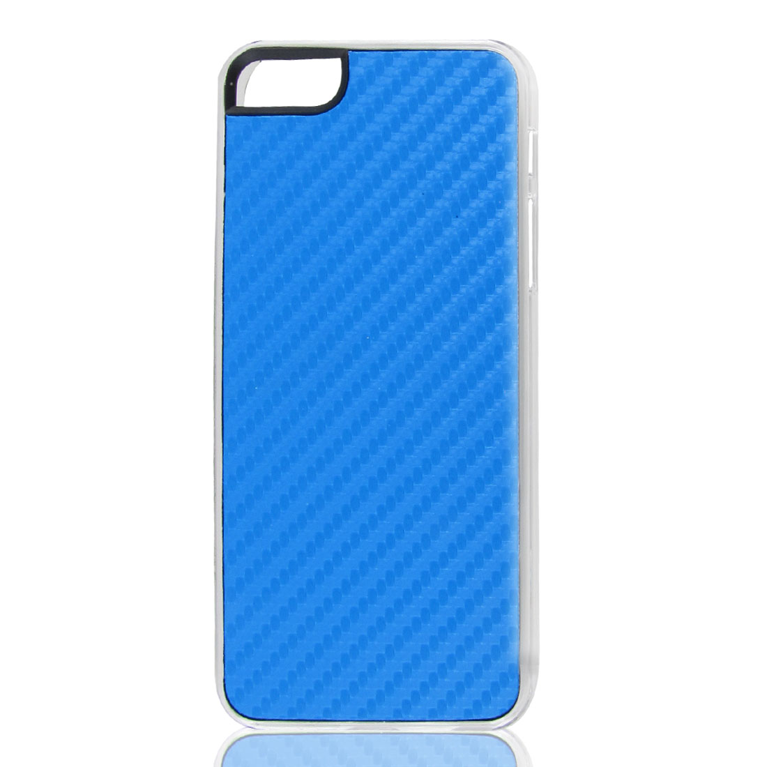 Sky Blue Woven Faux Leather Coated Hard Back Case Cover for Apple iPhone 5 5G