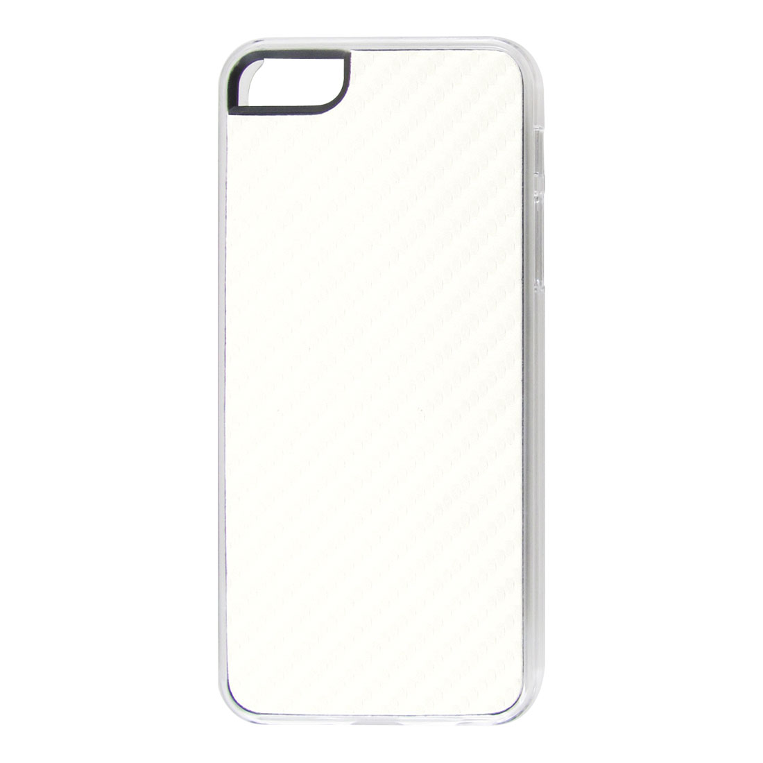 White Woven Faux Leather Coated Hard Back Case Cover for Apple iPhone 5 5G