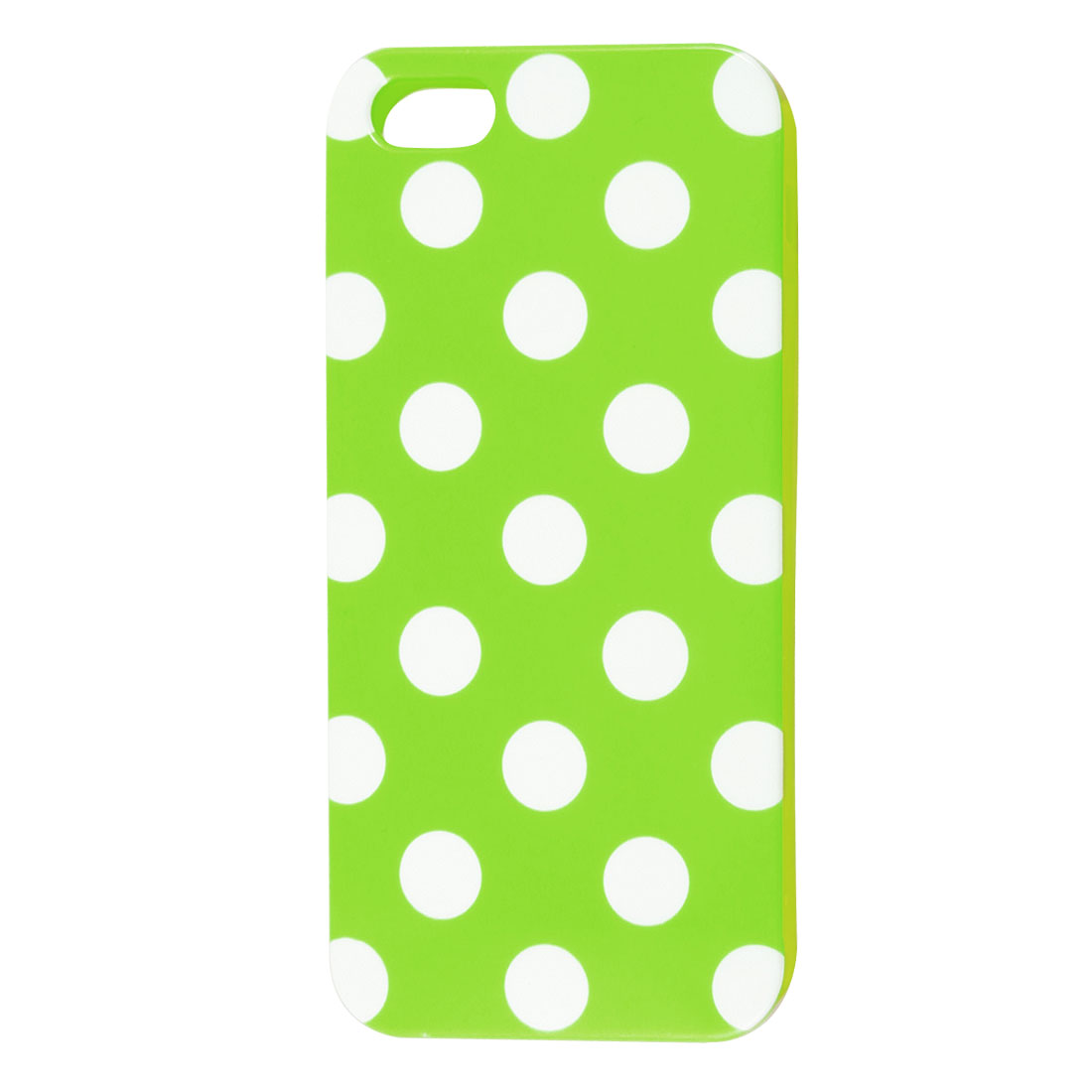 White Polka Dot Light Green Plastic TPU Phone Case Cover for Apple iPhone 5 5G