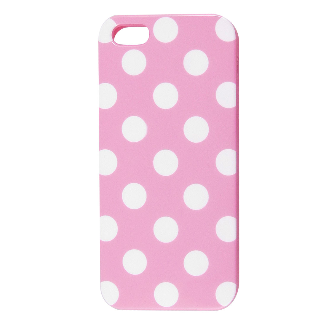 White Polka Dot Pink Plastic TPU Phone Case Cover for Apple iPhone 5 5G
