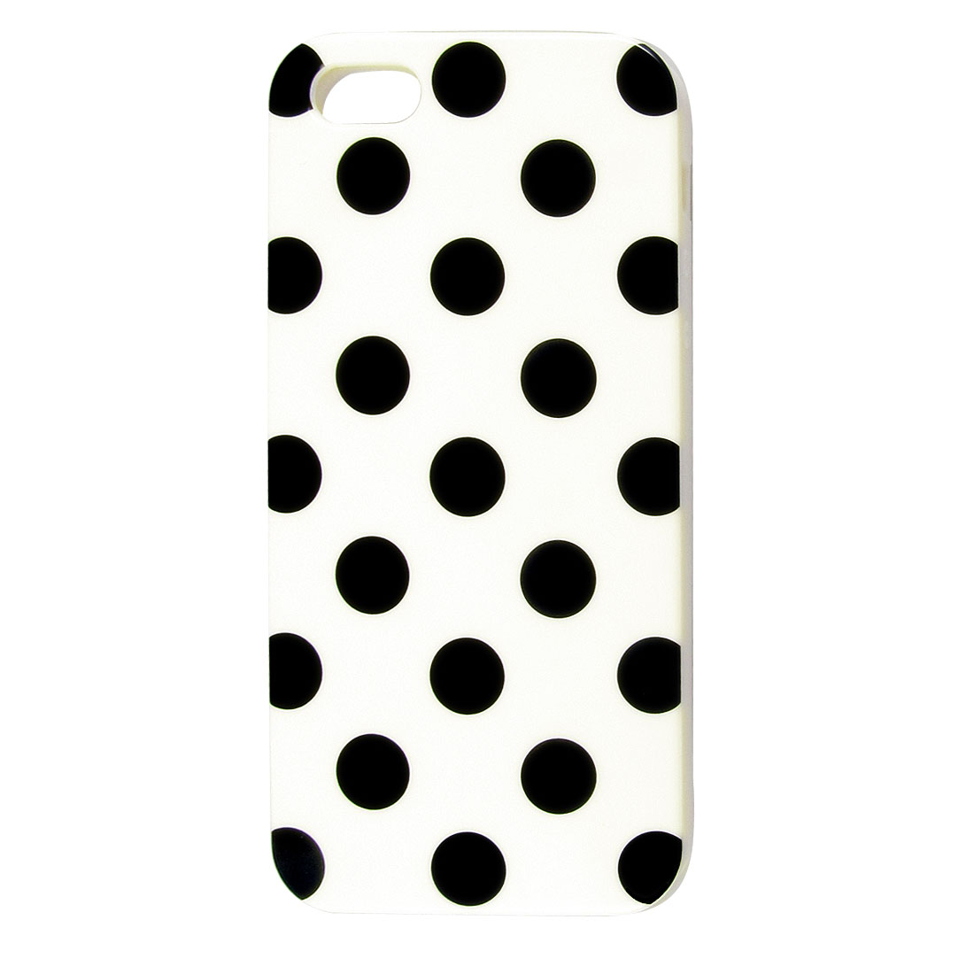 Black Polka Dot White TPU Phone Case Cover for Apple iPhone 5 5G 5th