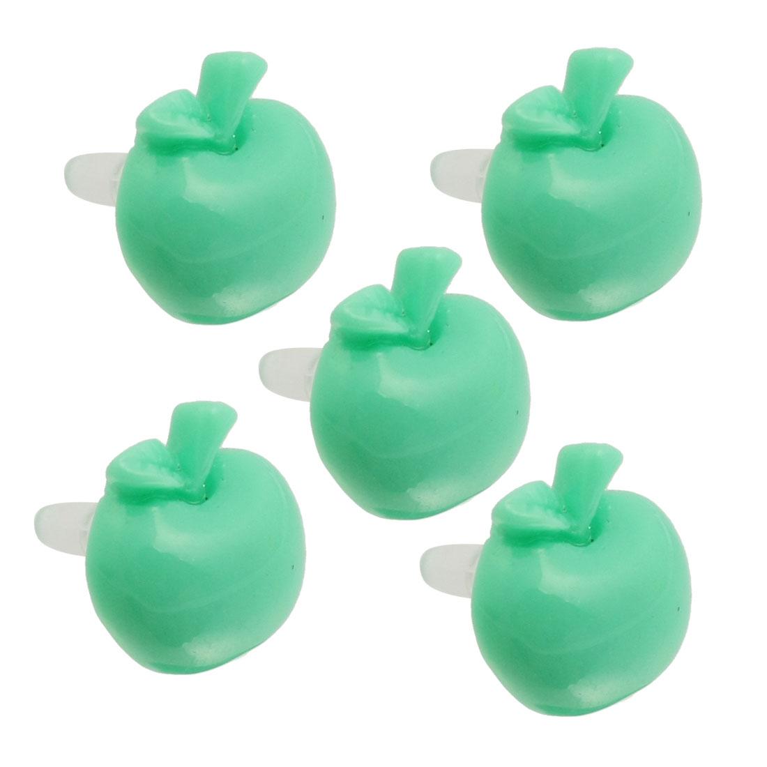 5 Pcs Aqua Green Apple 3.5mm Ear Cap Anti Dust Connector Stopper for iPhone 5G 3G 4S