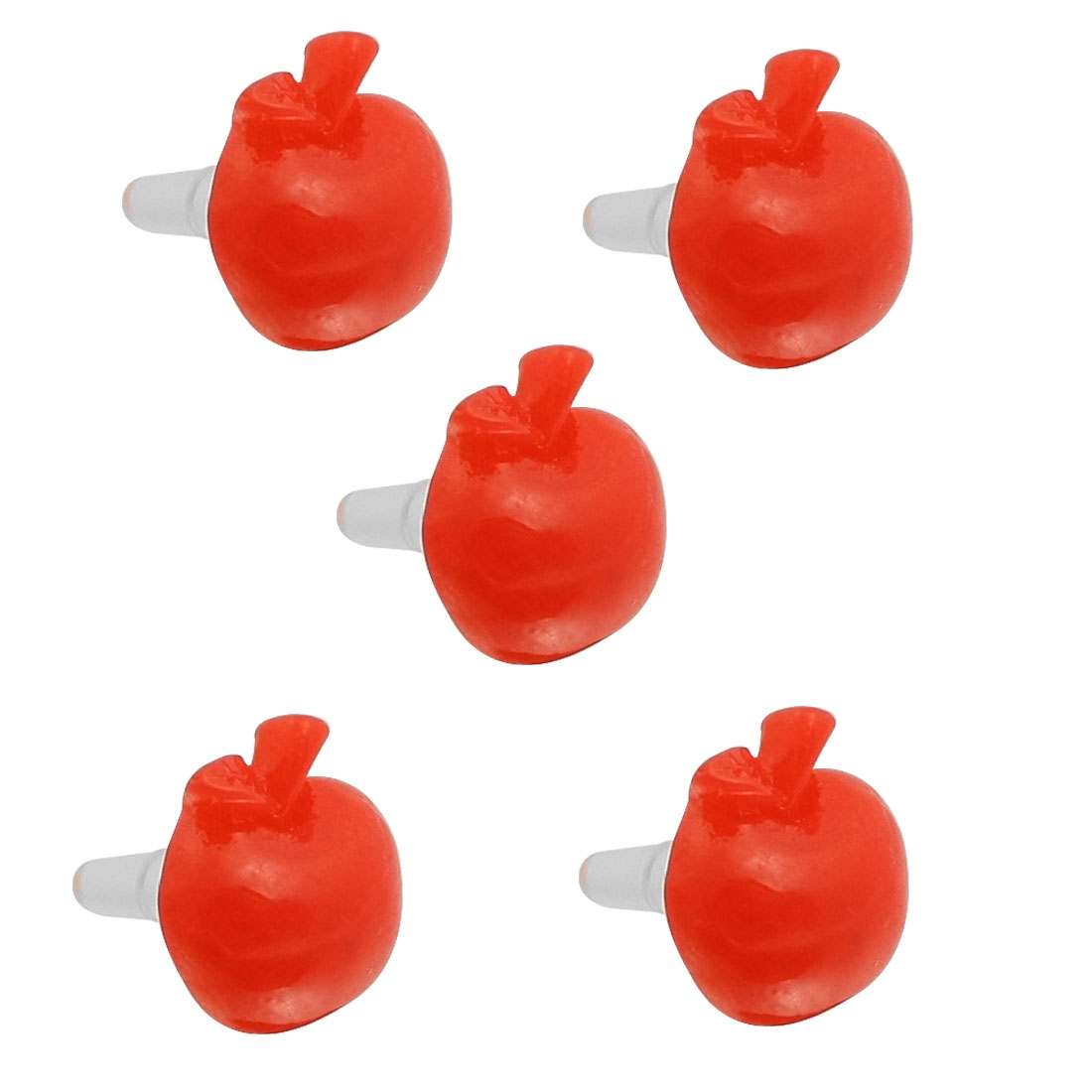 5 Pcs Red Apple Shape 3.5mm Ear Cap Anti Dust Plug Stopper for iPhone 5G 3G 4S