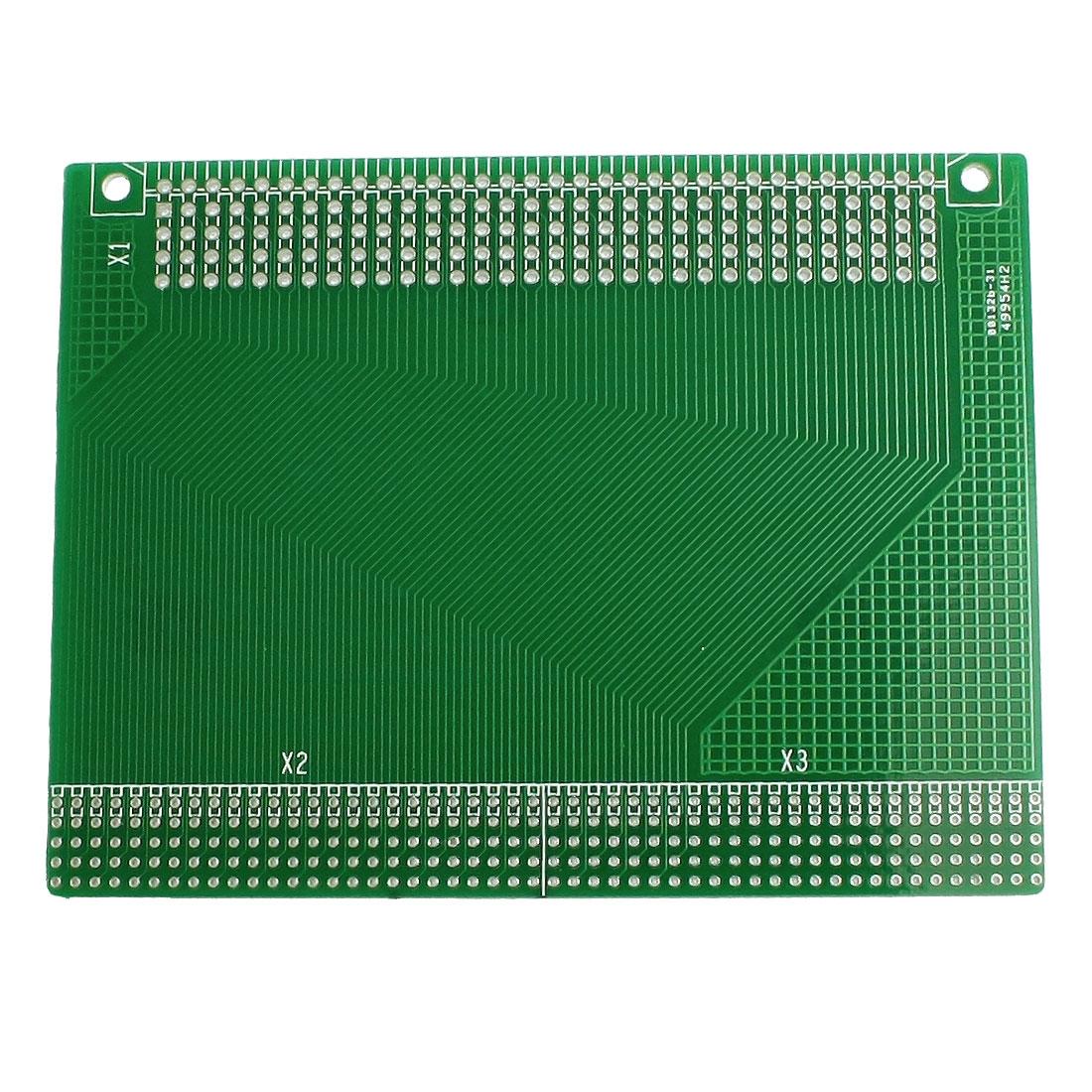 Prototyping Double Side PCB Board Stripboard 98x76mm Green
