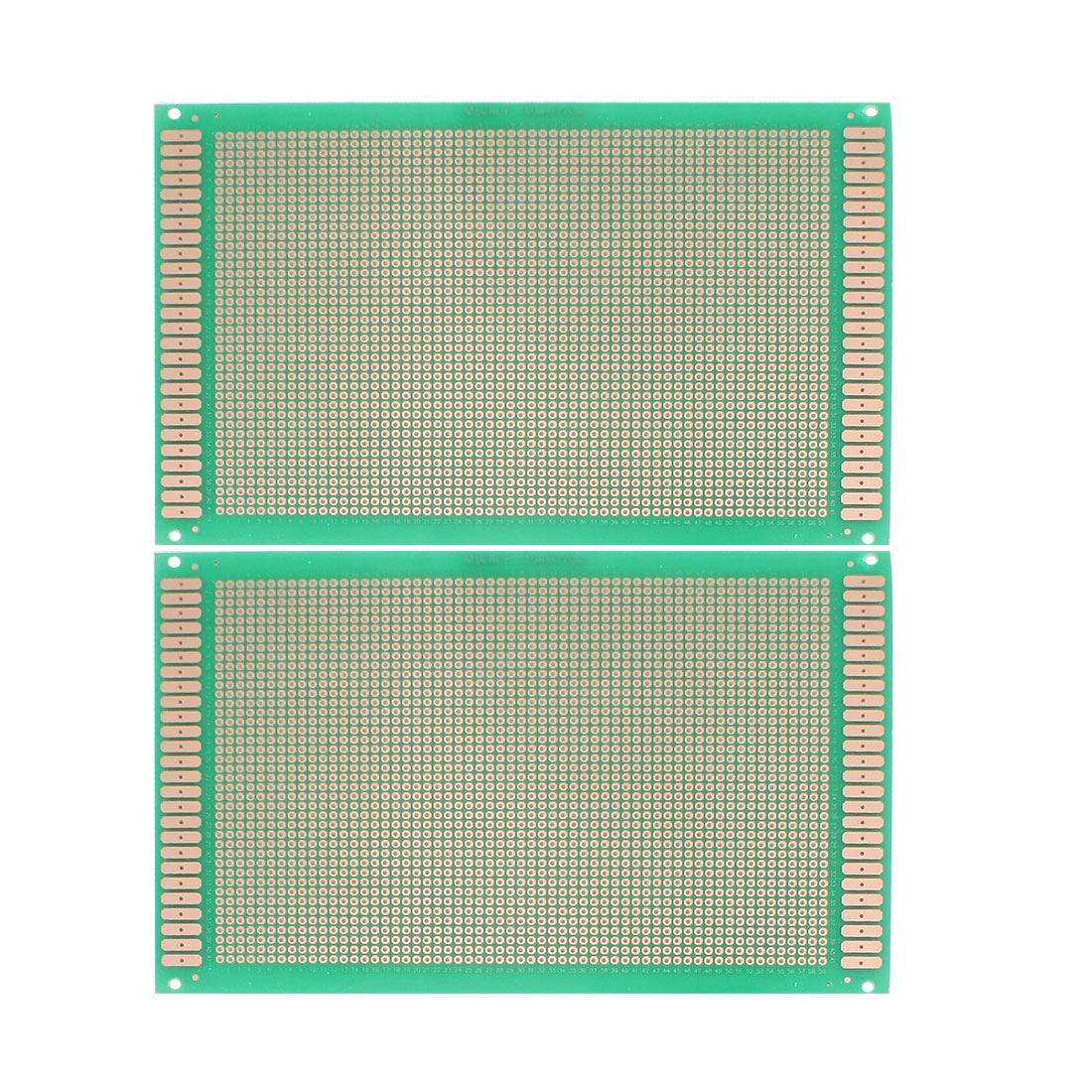 2 Pcs Copper Prototyping Single Side PCB Board Stripboard Green 18x12cm