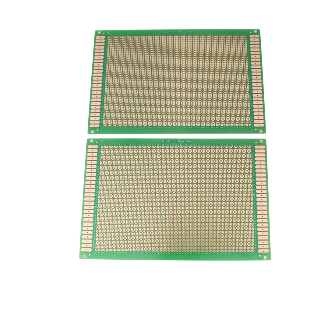 2 Pcs Single Side Prototype PCB Board Green 18 x 12cm