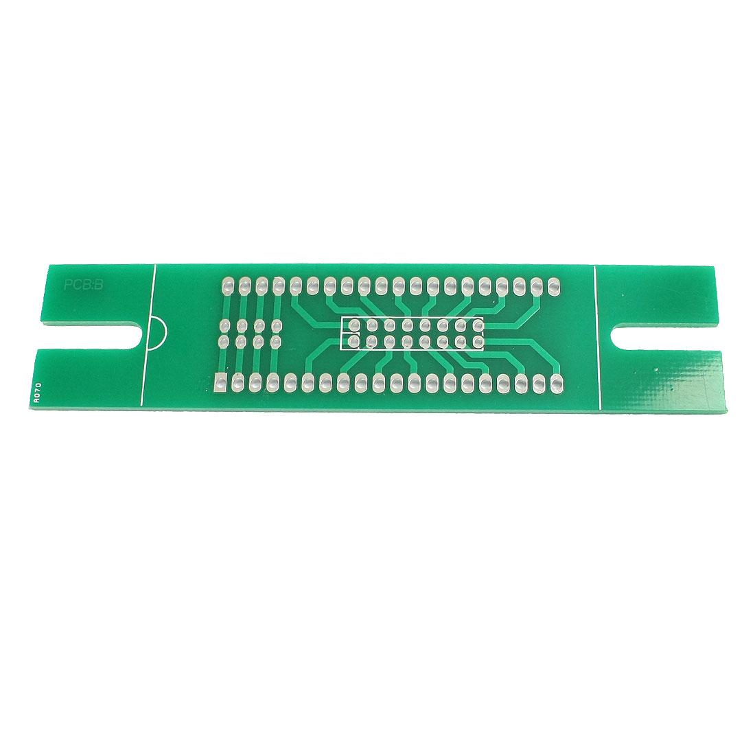 Prototyping Double Side PCB Board Stripboard Green 100x23mm